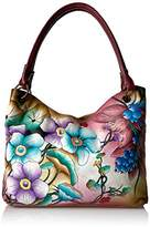 Anuschka Large Magnetic Satchel Floral Berries