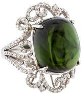 Ring Tourmaline & Diamond Filigree