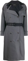 Rokh layered double-breasted trench coat