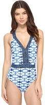 MICHAEL Michael Kors Summer Breeze Cross Back One-Piece Women's Swimsuits One Piece
