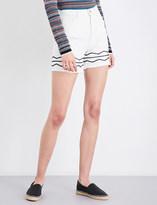 MiH Jeans Berber embroidered-detail denim shorts