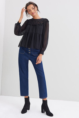 Daniel Rainn Brenda Embroidered Blouse By in Black Size S