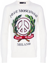 Love Moschino embroidered sweatshirt - men - Acrylic/Wool/Virgin Wool - S