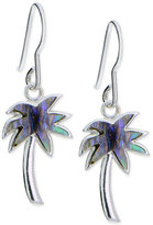 Giani Bernini Iridescent Inlay Palm Tree Drop Earrings in Sterling Silver, Only at Macy's