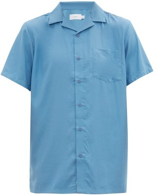 Onia Vacation Cuban-collar Poplin Shirt - Mens - Denim