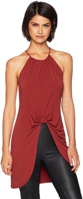 BCBGeneration Women's Knot Front Tunic TOP