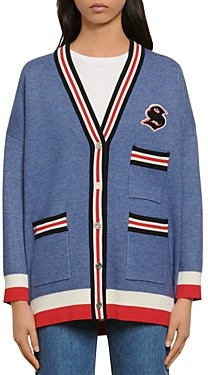 Sandro Ted Varsity-Style Cardigan
