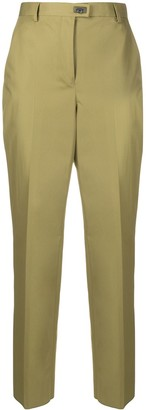 Salvatore Ferragamo Gancini detail slim-fit trousers