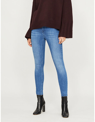 Ted Baker Aaciee raw-hem skinny mid-rise jeans