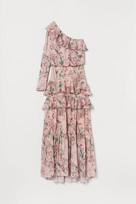 H&M One-shoulder satin dress