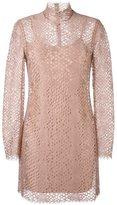 Alexander Wang lace mini dress - women - Cotton/Nylon/Spandex/Elastane/Rayon - 6