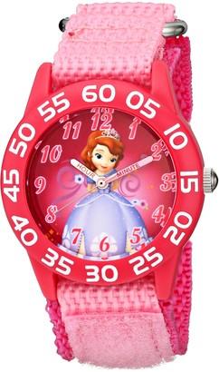 Disney Kids' W001686 Sofia the First Time Teacher Watch with Pink Nylon Band
