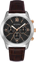 Bulova Men's Chronograph Brown Leather Strap Watch 40mm 98A142, a Macy's Exclusive Style