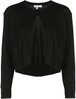 Schumacher Dorothee cropped fine knit cardigan