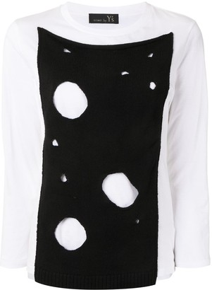 Y's cut-out panel T-shirt