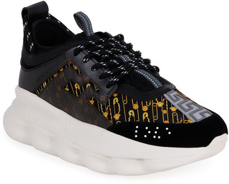 Versace Men's Medusa/Greek Key Chunky Sneakers