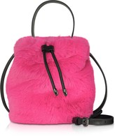 Karl Lagerfeld Paris X Carine Fur Bucket Bag