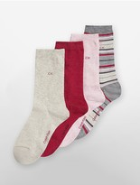 Calvin Klein 4 Pack Holiday Sparkle Socks
