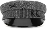 Thumbnail for your product : Ruslan Baginskiy Logo Embroidered Herringbone Baker Boy Hat