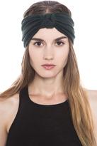 Chiara Wool Jersey Turban Headband in Hunter Green