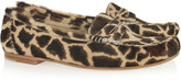 Brian Atwood Hampton animal-print calf hair penny loafers