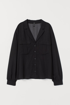 H&M Airy Utility Blouse - Black