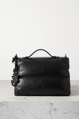 MONCLER GENIUS 1 Jw Anderson Quilted Padded Shell And Leather Tote - Black