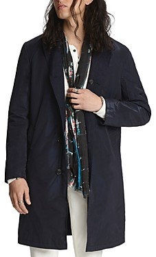 John Varvatos Collection Reversible Regular Fit Trench Coat