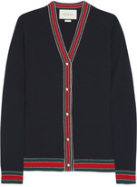 Gucci Striped Wool Cardigan - Navy