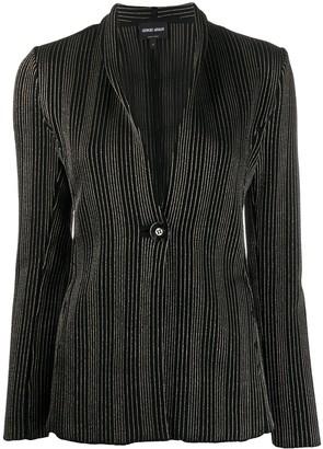 Giorgio Armani Stripe Pattern Blazer