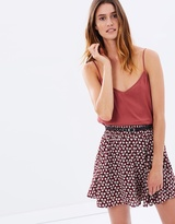 Maison Scotch Mini Skirt with Studded Belt