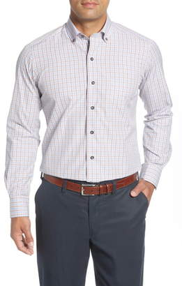 David Donahue Regular Fit Plaid Button-Down Shirt