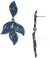 Aqua Ilana Blue Leaf Drop Earrings