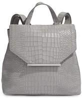 H Halston Croco Embossed Backpack