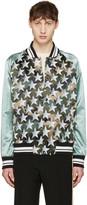 Valentino Green Star Souvenir Bomber Jacket