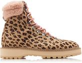 Diemme Exclusive Monfumo Leopard Calf-hair Ankle Boots