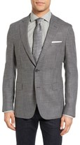 HUGO Men's Boss Roan Trim Fit Houndstooth Wool Blend Sport Coat