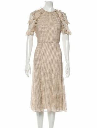 Jason Wu Collection Silk Midi Length Dress