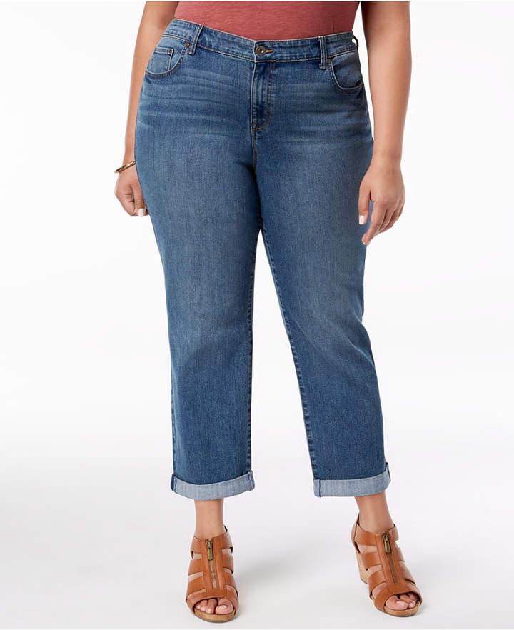 Style & Co Plus Size Boyfriend-Fit Jeans