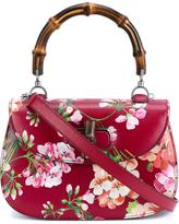Gucci floral print shoulder bag - women - Leather/Bamboo/Cotton - One Size