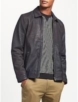Kin By John Lewis Soft Feel Leather Jacket, Iron