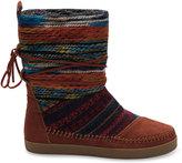 Toms Cognac Suede Textile Mix Women's Nepal Boots