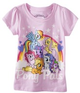 My Little Pony Infant Toddler Girls' Short-sleeve Pony Pals Tee - Pink