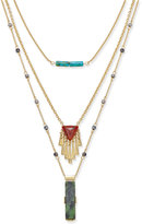 INC International Concepts Gold-Tone Mixed-Pendant Layered Necklace, Only at Macy's