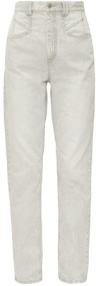 Isabel Marant Dominic High-rise Straight-leg Jeans - Womens - Light Grey