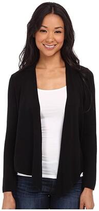 Nic+Zoe Long-Sleeve 4-Way Cardy (Black Onyx) Women's Sweater