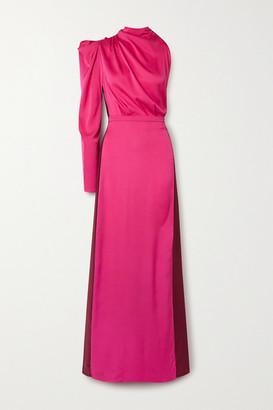 Johanna Ortiz Net Sustain Woman In Love One-shoulder Silk-georgette Maxi Dress - Pink