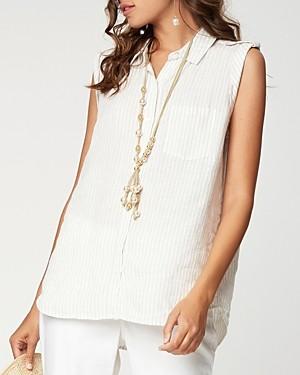 NYDJ Sleeveless Collared Shirt