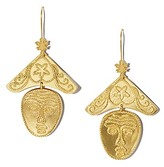 Tory Burch Sculptural Face Earring