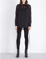 Isabel Benenato Oversized cotton and silk-blend shirt